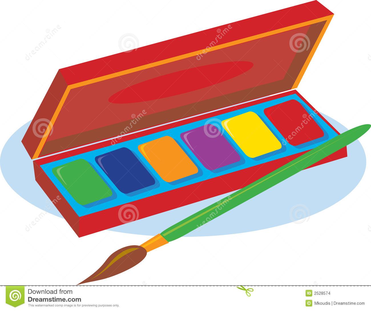 Paint Box Stock Images.