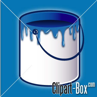 CLIPART TIN OF PAINT.