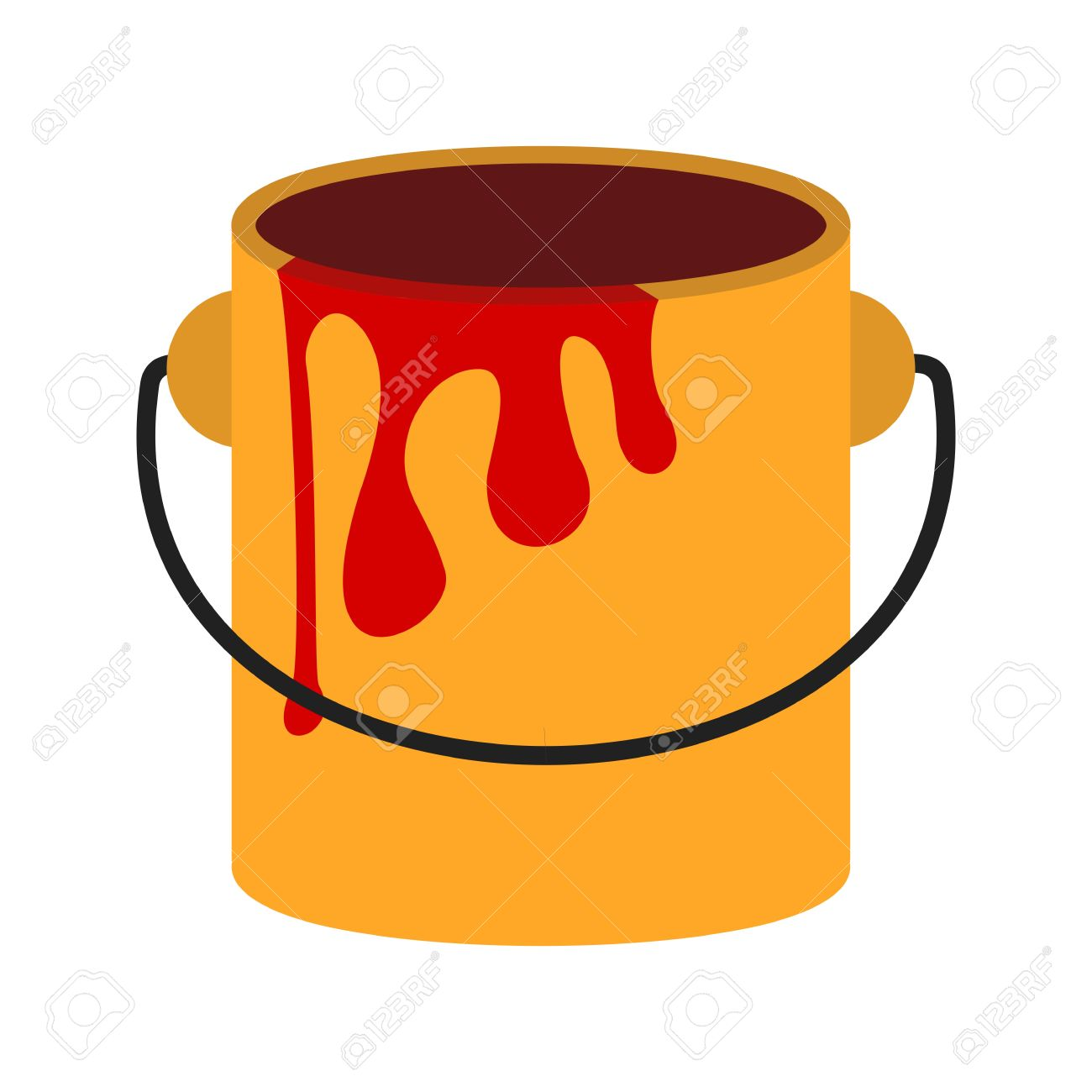 Paint Box, Bucket, Paint Bucket Icon Vector Image. Can Also Be.