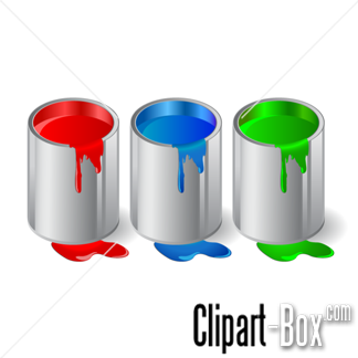 CLIPART TINS OF PAINT.