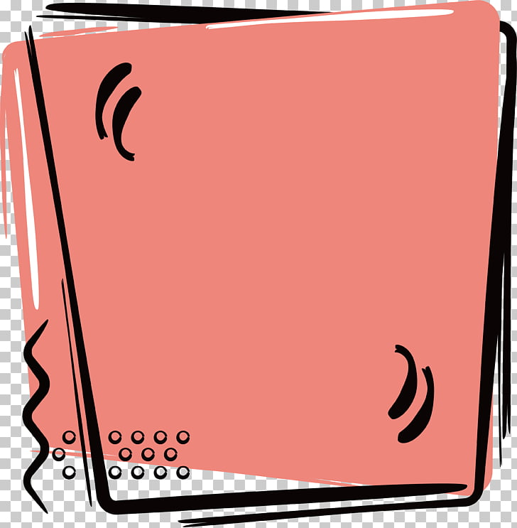 Paintbrush Poster, Pink brush brush border PNG clipart.
