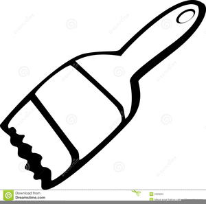 104 Best Paintbrush Clipart Black And White.