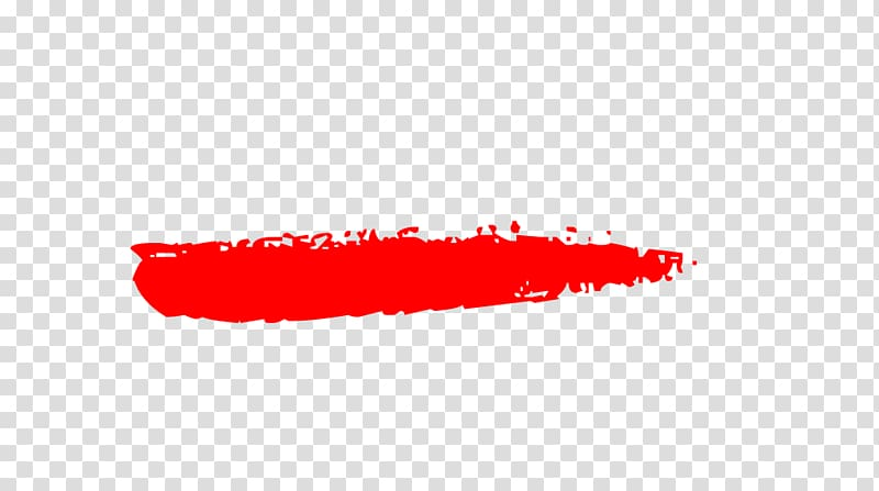 Red brush stroe, Brush Painting, RED LINES transparent.