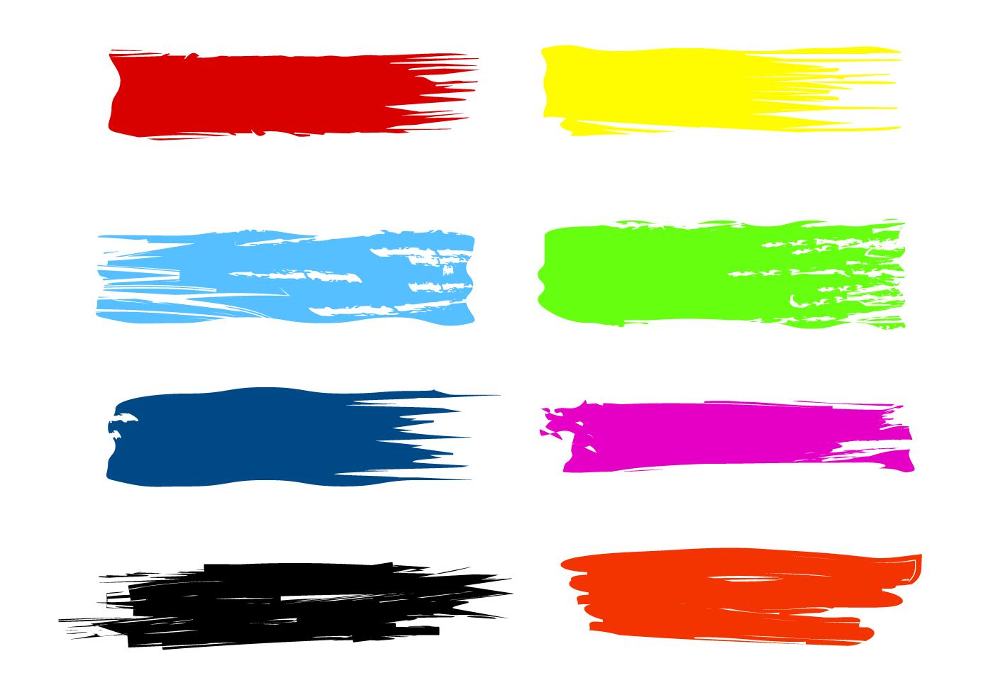 Paint Brush Stroke Free Vector Art.