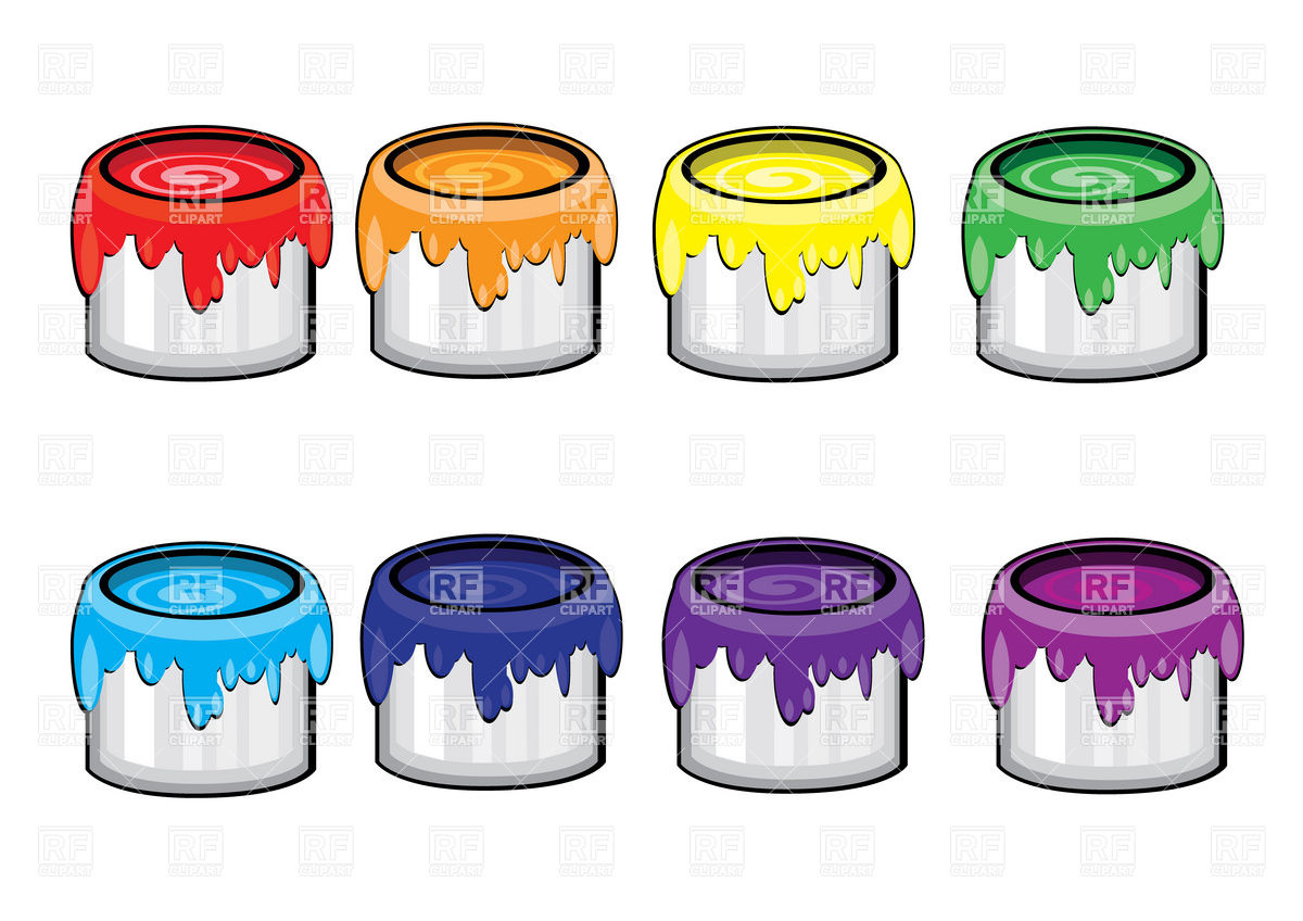 Paint Bucket Outline Clipart.