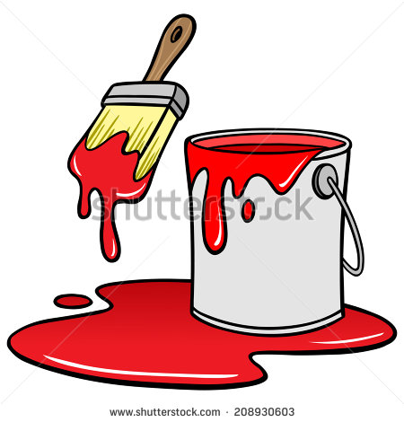 Showing post & media for Cartoon paint bucket spilling.