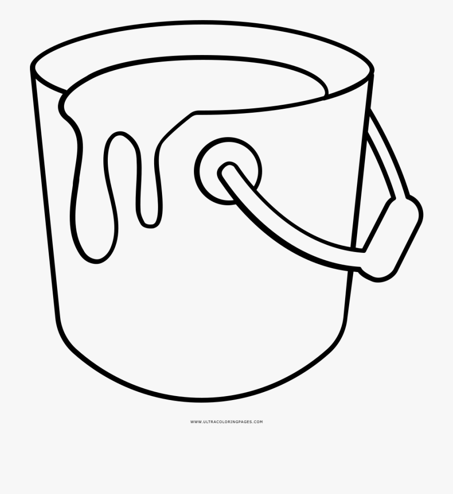 Paint Bucket Coloring Page.