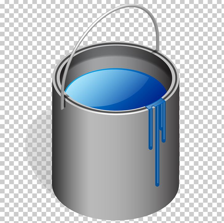 Paint Bucket Blue PNG, Clipart, Angle, Blue, Blue Can.