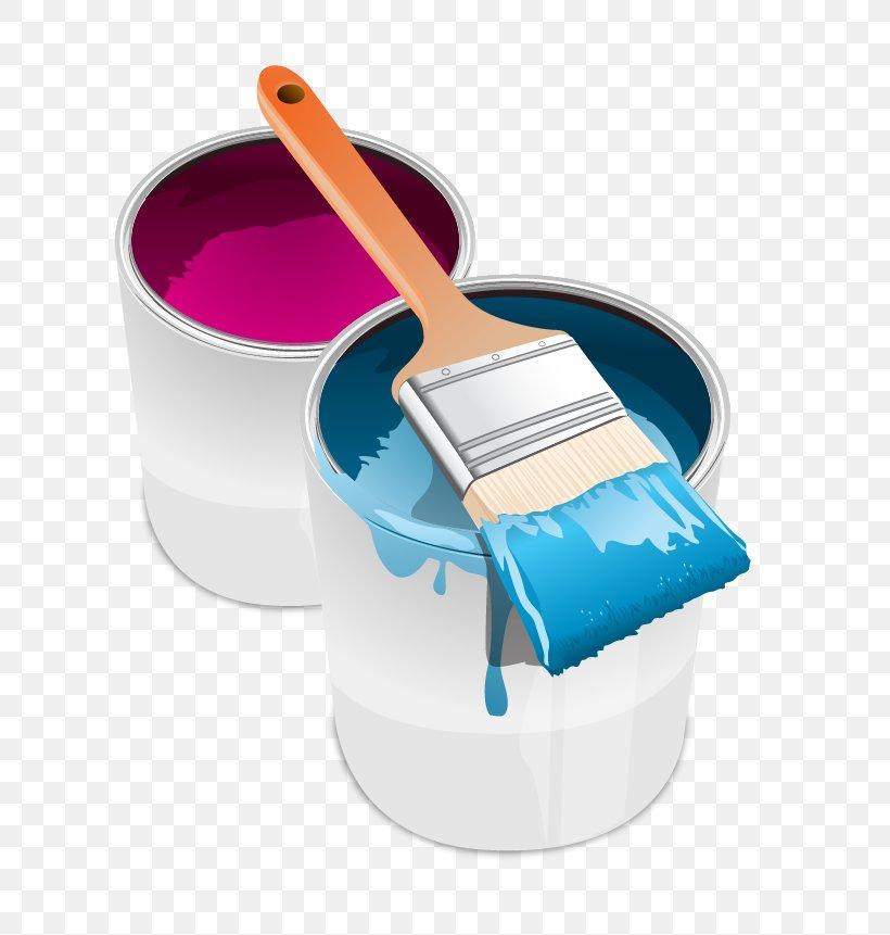 Paint Tin Can Brush Clip Art, PNG, 701x861px, Paint, Brush.