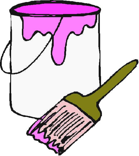 Paint Can And Brush Clipart.