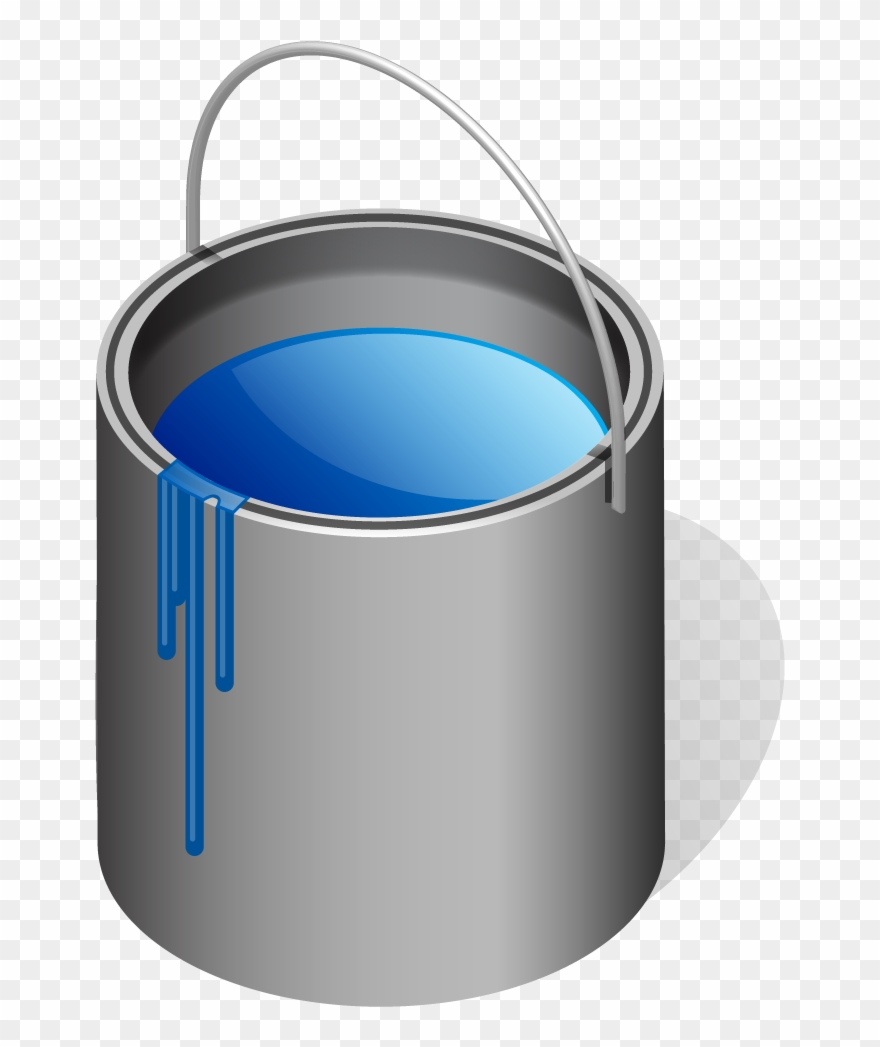 Clipart Of Paint, Tin And Blue Can.