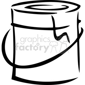 black and white paint can clipart. Royalty.