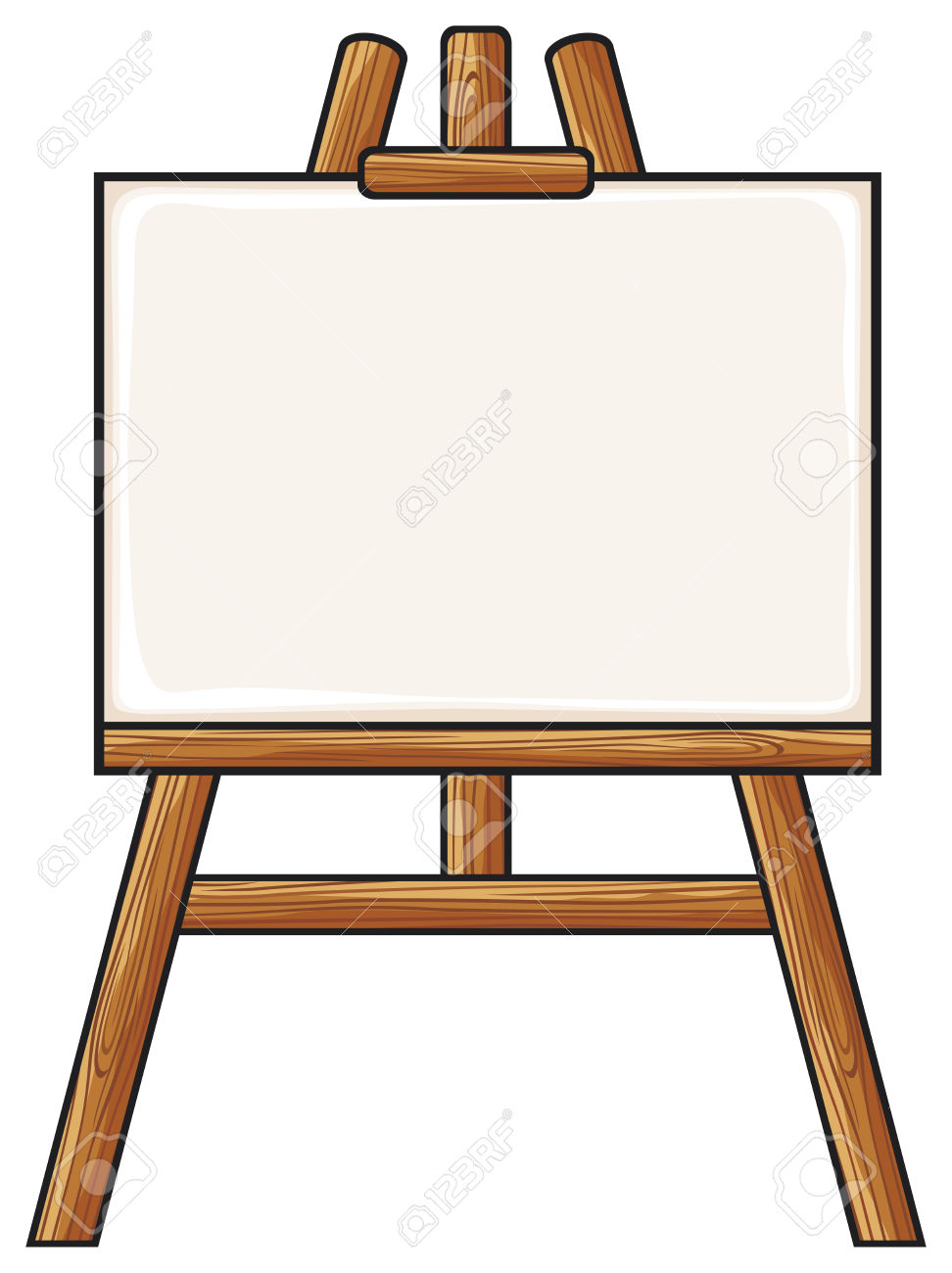 Painting Easel Clipart.