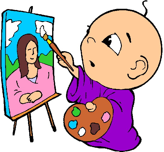 Baby paint clipart.
