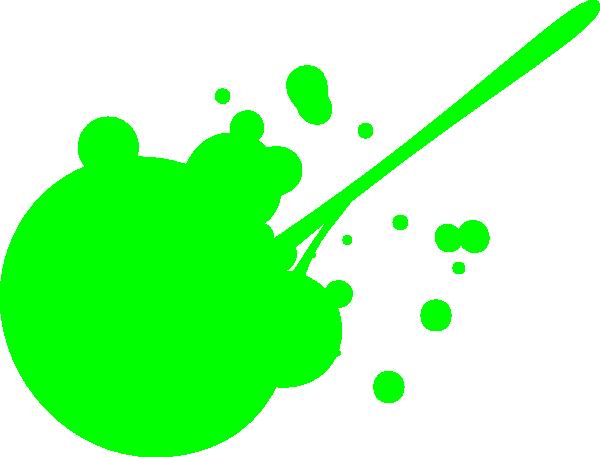 Green Paint Splatter clip art.