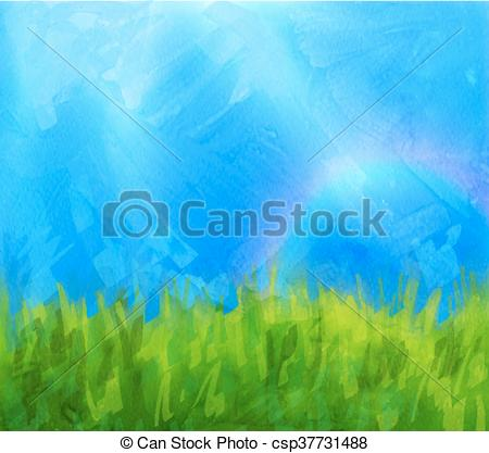 Vector of Summer background with paint daubs.
