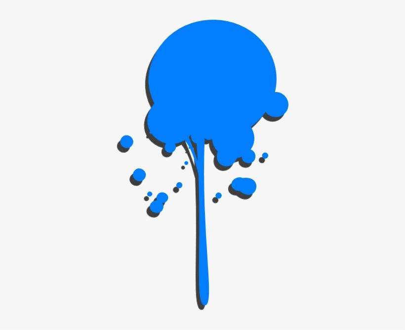 Blue Paint Drip Clip Art.
