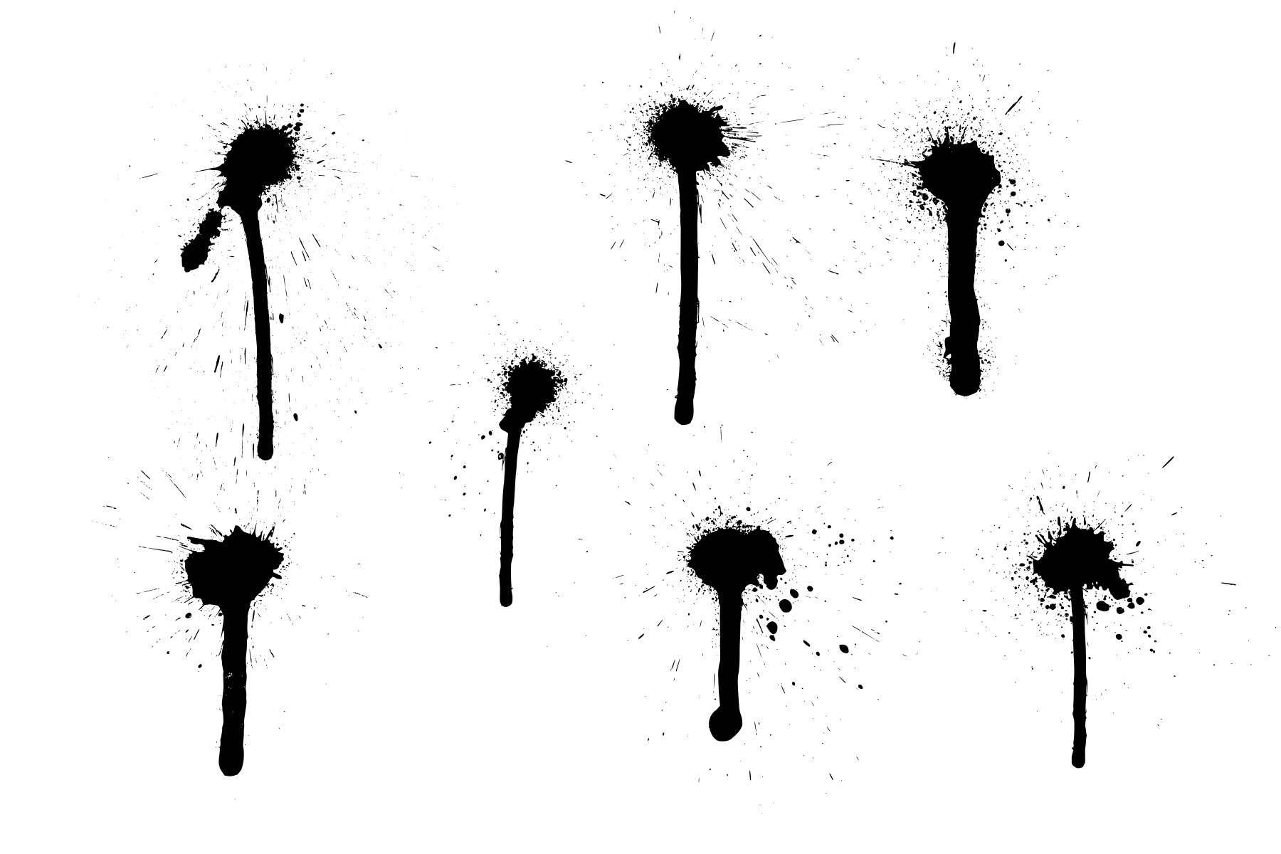 7 Spray Paint Drip (PNG Transparent).