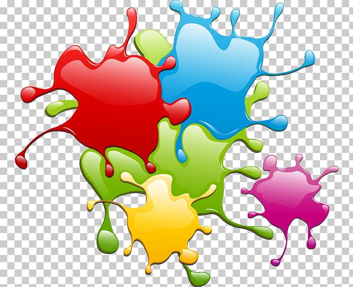 Painting Splash Euclidean , Colorful paint drops, paint.