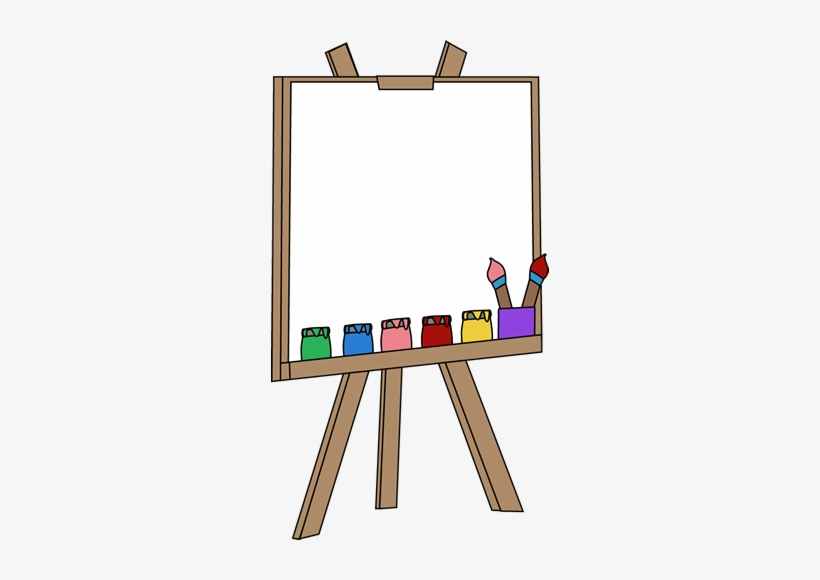 Blank Paint Easel Clip Art Blank Paint Easel Image.