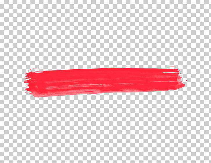 Ink brush Watercolor painting, Red ink lines PNG clipart.