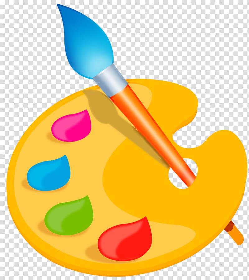 Paint logo, Palette Paintbrush , palette transparent.