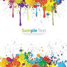 Free Paint Splatter Clip Art/Vector. I'm using this for an art.