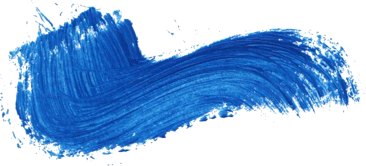 22 Blue Paint Brush Stroke (PNG Transparent).