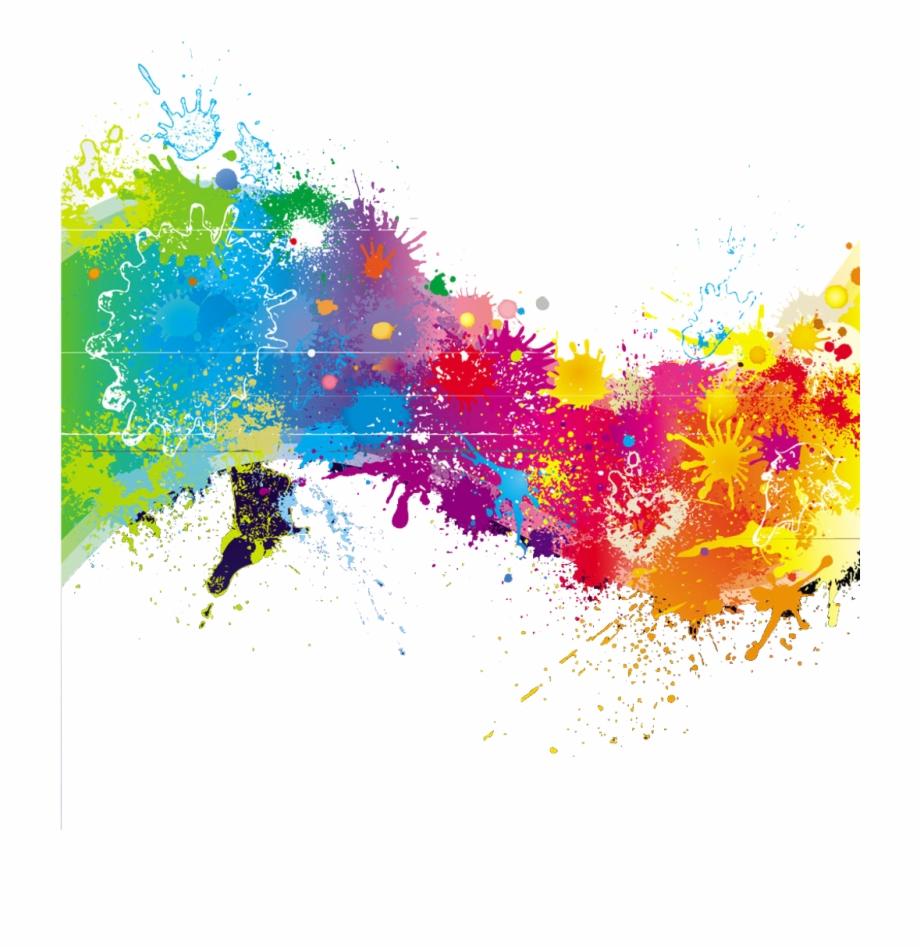 Transparent Stock Splash Transparent Rainbow Paint.