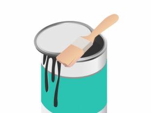 Paint Pot Free Vector.