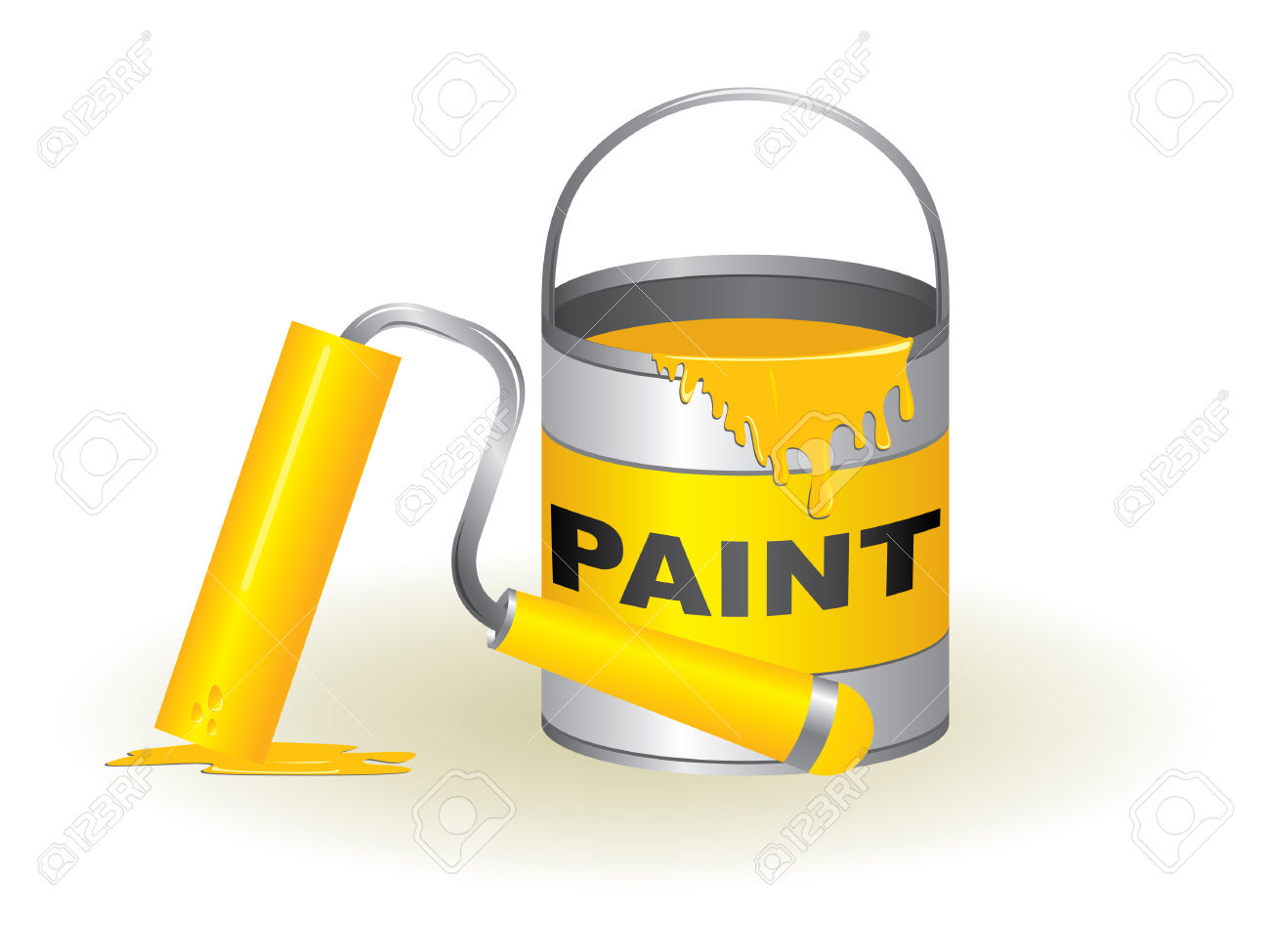 Paint Pot And Roller Royalty Free Cliparts, Vectors, And Stock.
