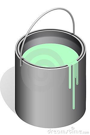 Paint pots clipart.