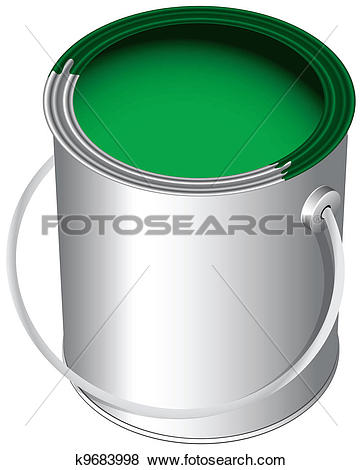 Stock Illustration of Paint in the pot k9683998.