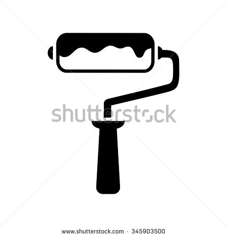 Paint Roller Stock Photos, Royalty.