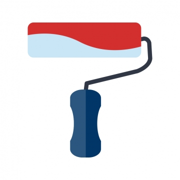 Paint Roller PNG Images.