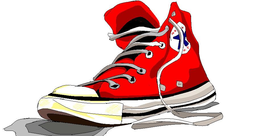 Converse shoe.
