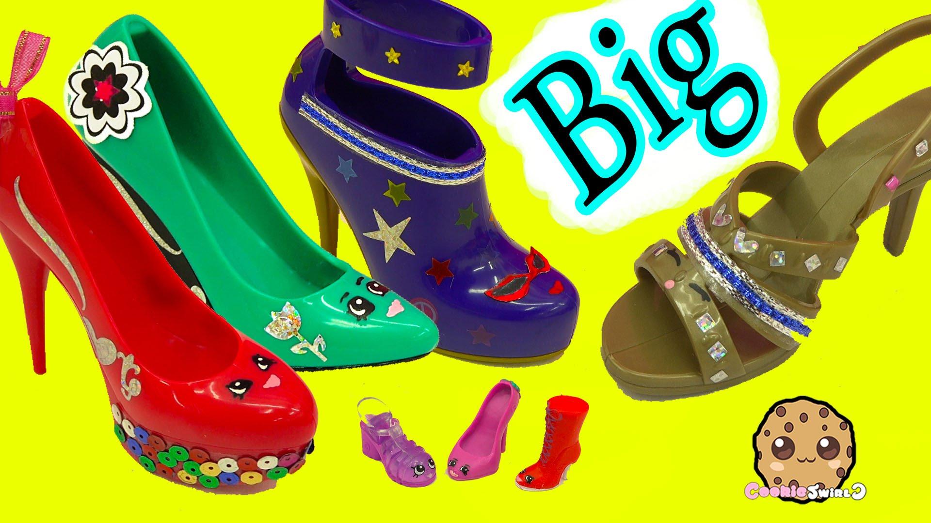 Painting + Designing Large Big Shopkins Inspired Shoes.