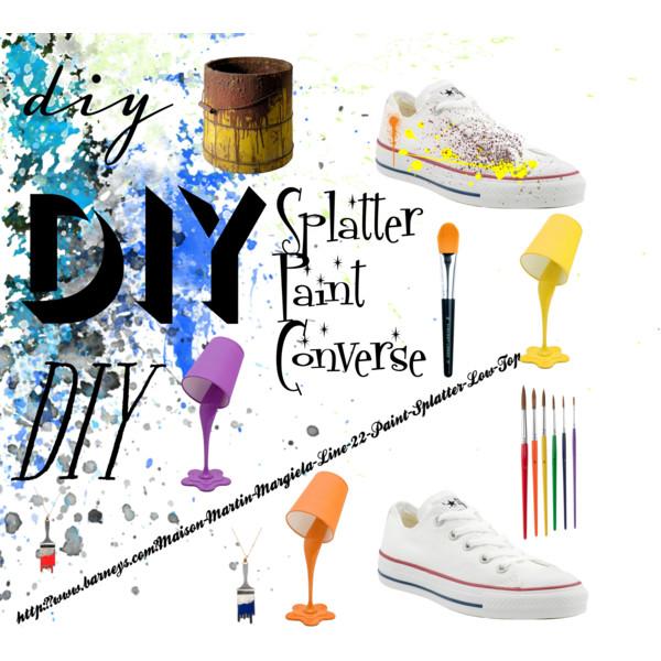 Do It Yourself (DIY) Splatter Paint shoes.