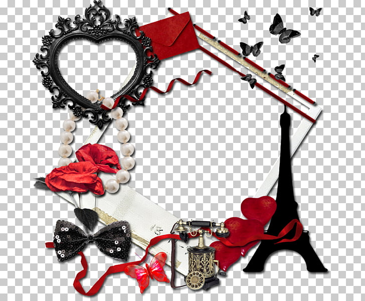 Frame Tableau PaintShop Pro, Telephone tower bow love frame.