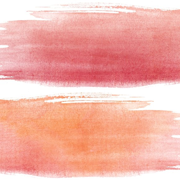 Firy Red Paint Smear Clipart Set.