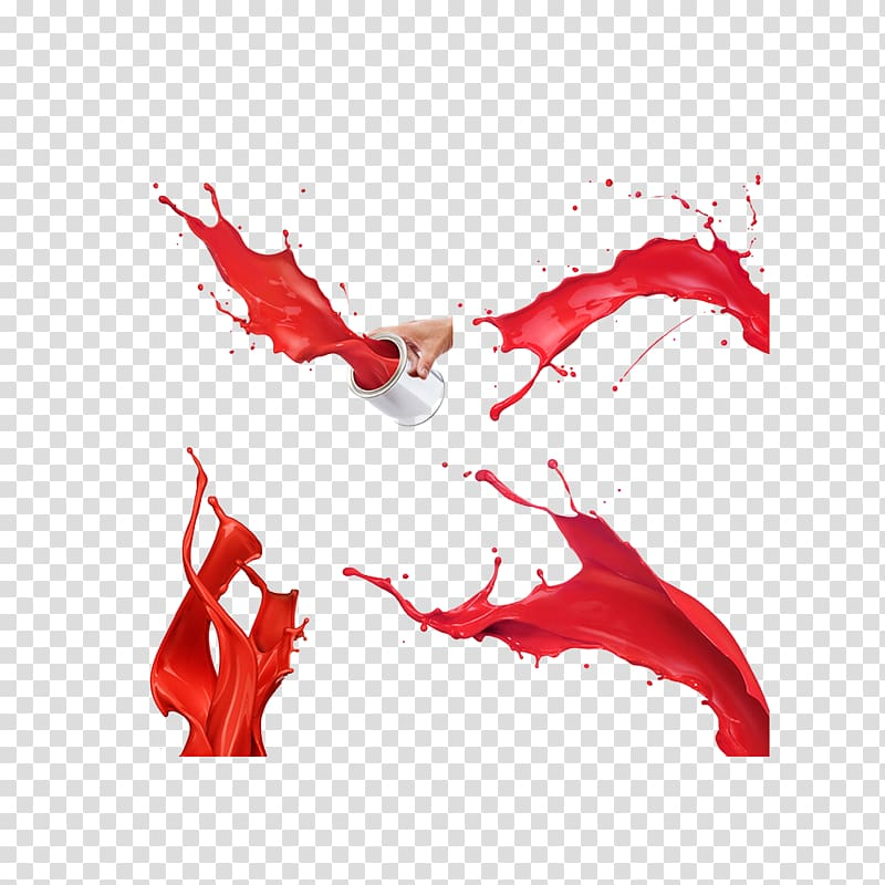 Red paint spill illustration, Painting Microsoft Paint, Red.
