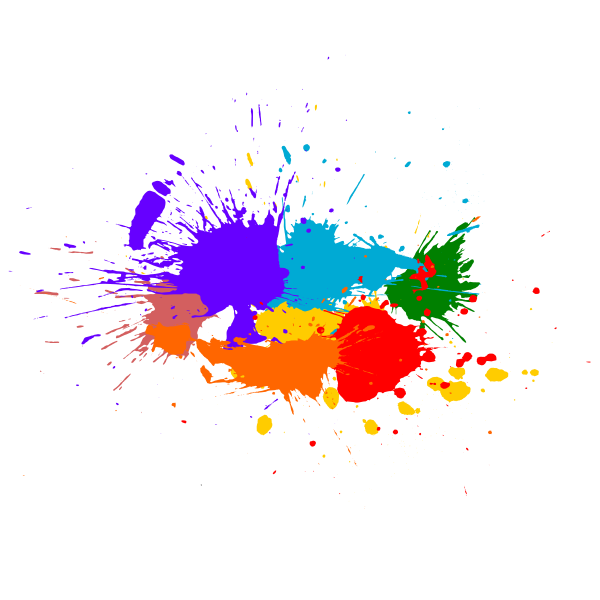 5 Colorful Paint Splash Background Vector (SVG).