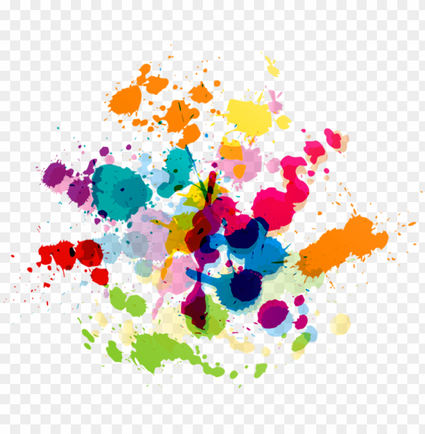 Download colorful paint splatter transparent clipart png.