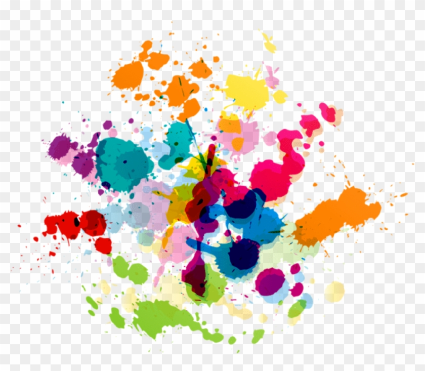 Free Png Download Colorful Paint Splatter Transparent.