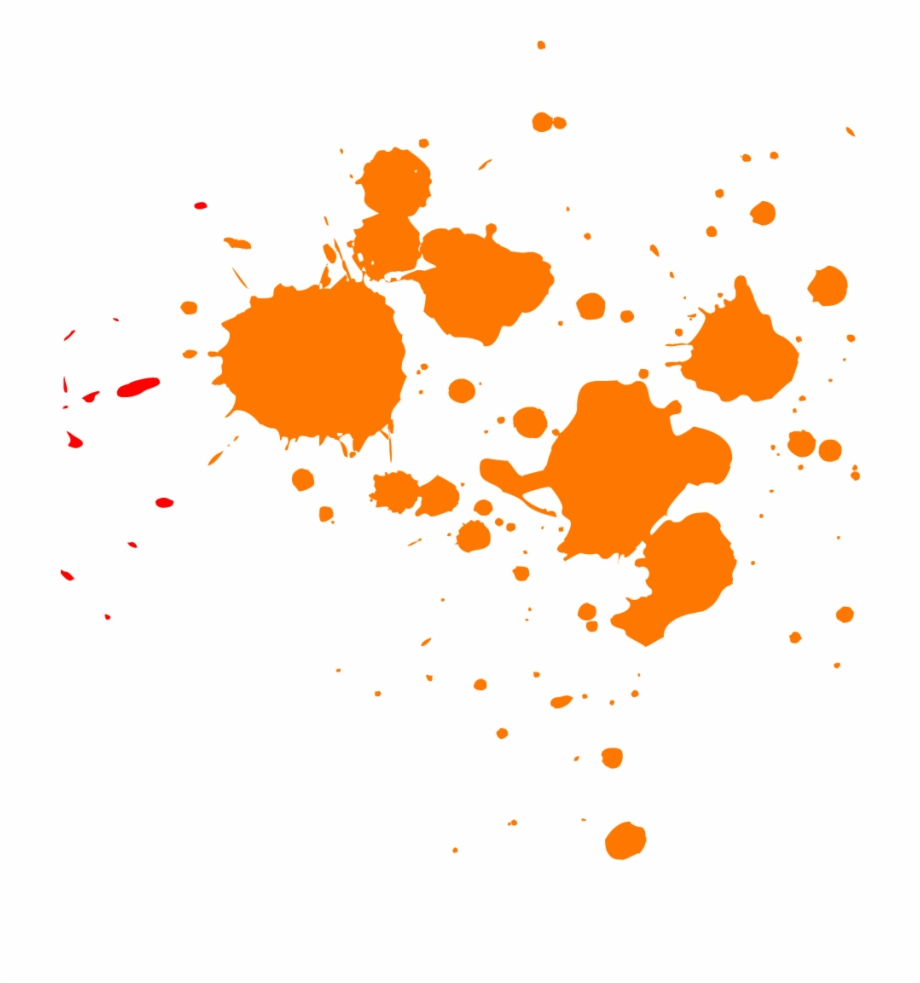 Orange Paint Splatter.