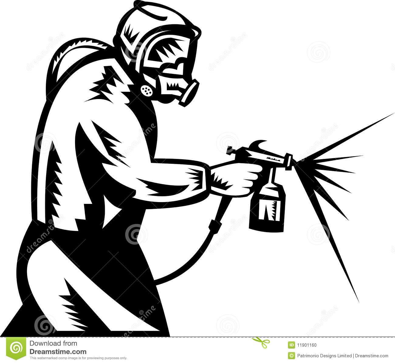 Paint Sprayer Clipart.