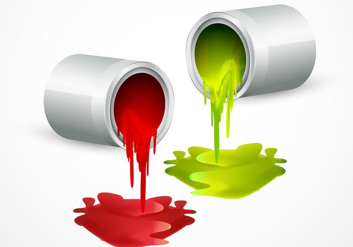 Paint Bucket Vectors with Colors.