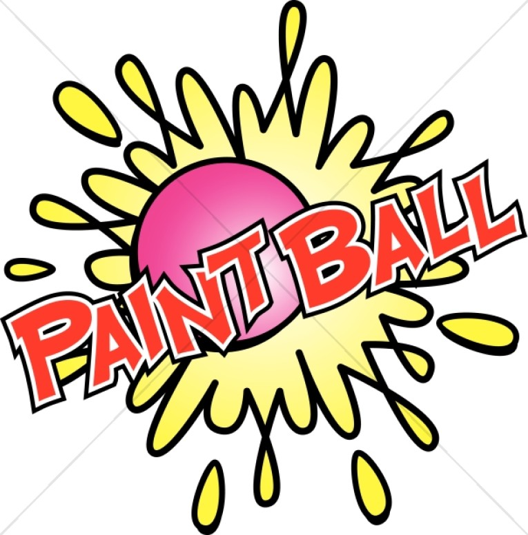 Paintball in Red with Bright Colors.