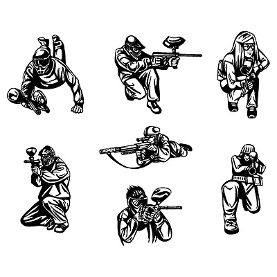 PAINTBALL CLIPART.