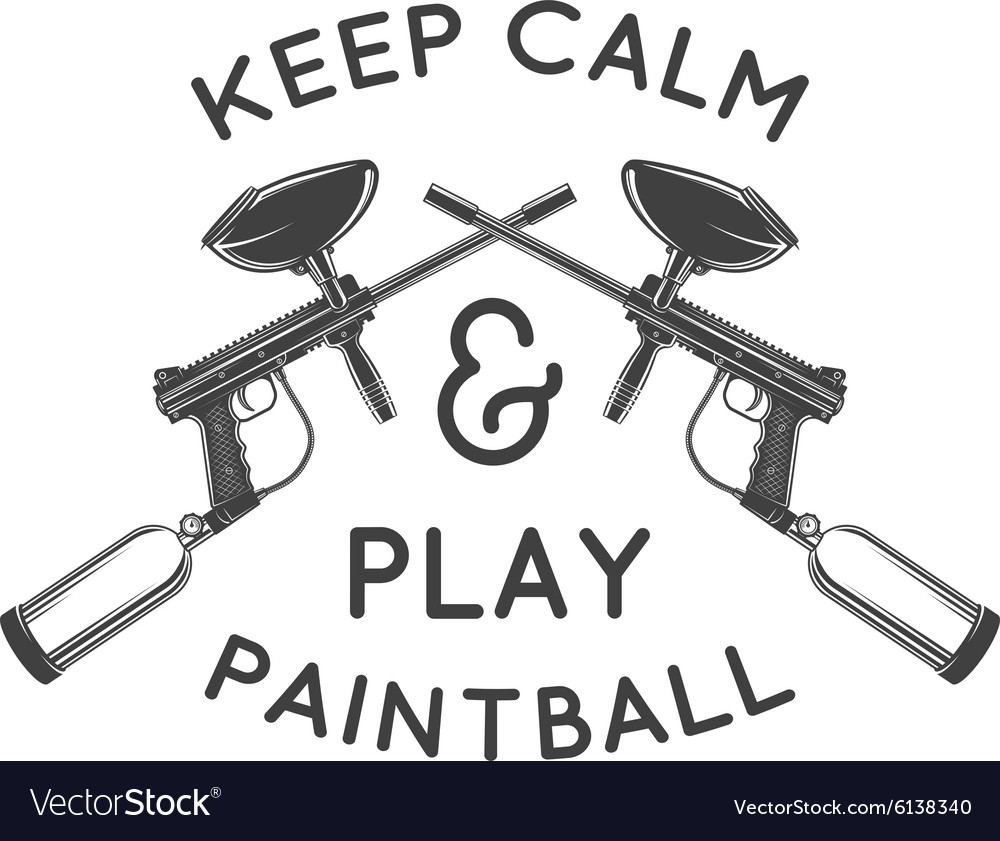 Paintball logo template Paintballing poster.